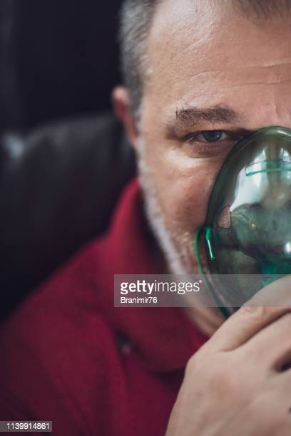 daily asthma care - health care - respiratory machine stock photos and pictures