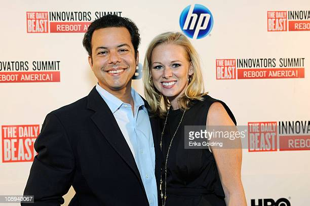 Daily Beast columnist John Avlon and wife Margaret Hoover attend The Daily Beast's Innovators Summit Reboot America at Mardi Gras World East on...
