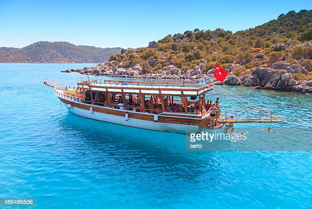 Daily boat trips and swimming in Antalya, Turkey