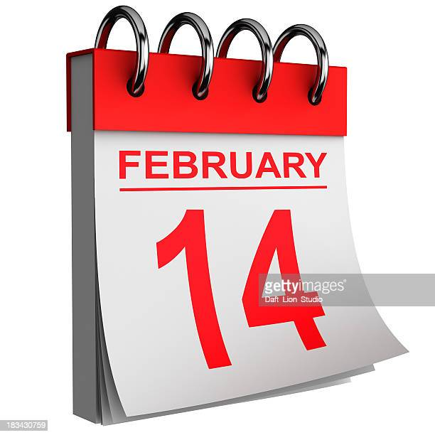 Daily calendar showing Valentine's Day