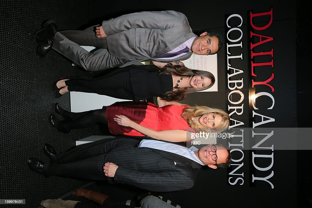 CANDY -- 'Daily Candy Collaborations' at Le Bain in New York City on Wednesday, January 23, 2013 -- Pictured: (l-r) Fernando Romero; Ashley Parrish, Editor in Chief, DailyCandy; Alison Moore, General Manager, DailyCandy; Scott Schiller, Executive Vice President, Digital Media Sales, Entertainment & Digital Networks and Integrated Media, NBCUniversal --