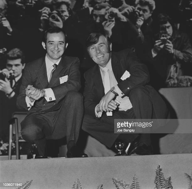 Daily Express press photographers Ken Lennox and Albert McCabe pictured together at the British Press Pictures of the Year Awards in London on 16th...
