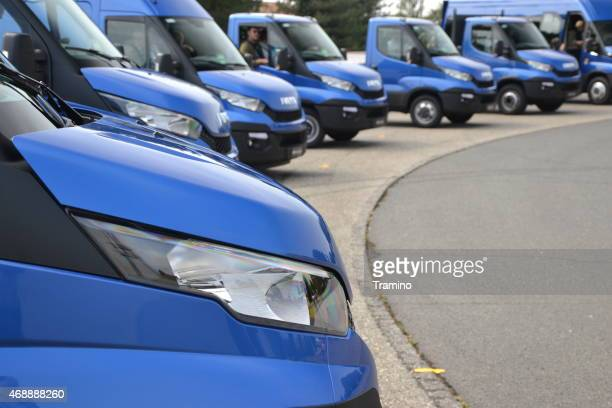 IVECO Daily in a row