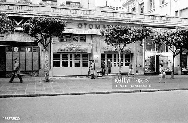 Daily life after the referendum on Algerian independence during July 1962 in Algiers Algeria