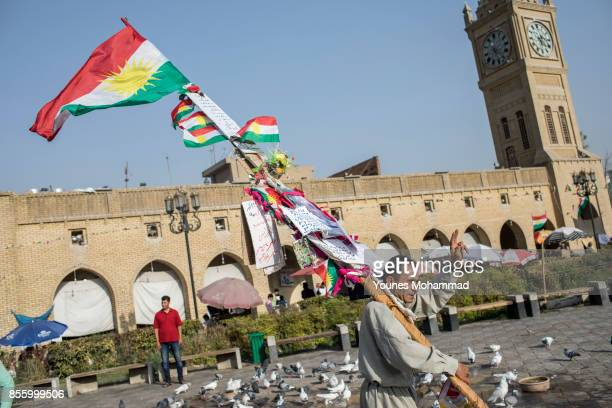 Daily life around the Citidel after referendum vote September 30 2017 in Erbil Iraq