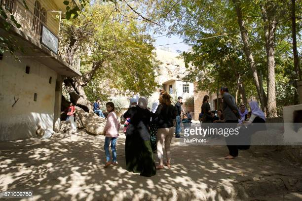 Daily life at the holy city of the Yazidis in Lalish Duhok Iraq on 6 November 2017 Lalish was founded by Sheikh Adi who is interred in the temple in...
