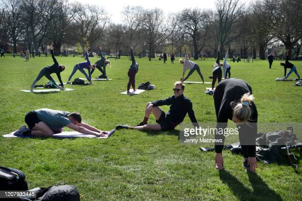 Daily life continues but not as as normal with some rules and restrictions in Hackney on 21st March 2020 in London, United Kingdom. As leisure...