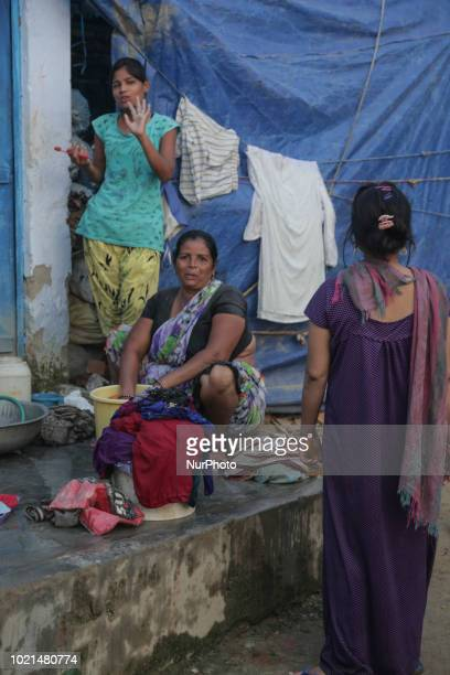 Daily life in Agra city India focusing on people living waking up working or washing Agra a city of Uttar Pradesh with a population of 17 million...