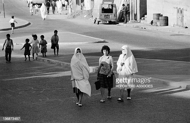 Daily life in Algiers Algeria two months after the proclamation of the Independence of Algeria on September 13 1962 in AlgiersAlgeria