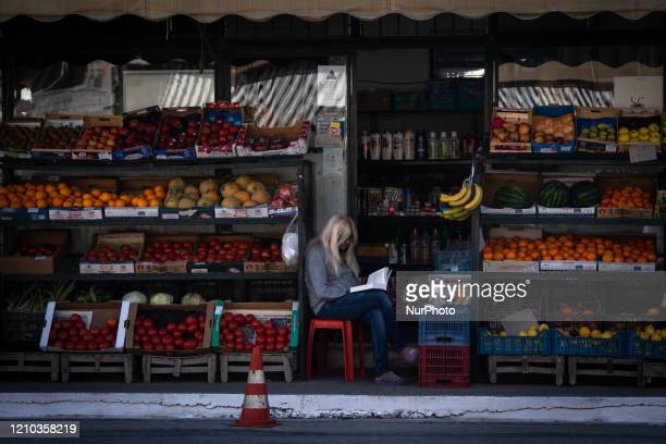 Daily life in Athens Greece on April 18 2020 Every city in Greece remains in a strict lockdown in order to contain the novel coronavirus spread Along...