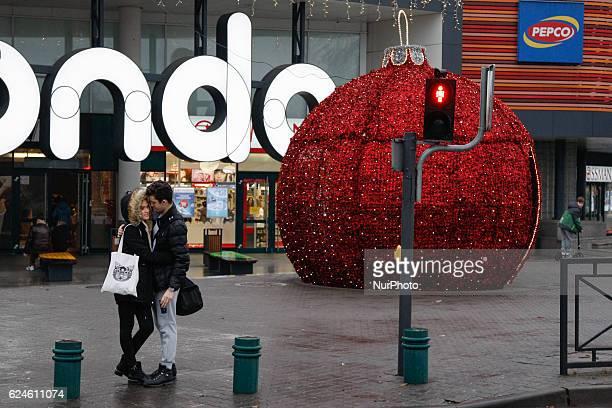 Daily life in Bydgoszcz Poland on November 19 2016 ahead of the Christmas shopping season