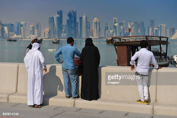 daily life in doha, qatar - doha stock photos and pictures