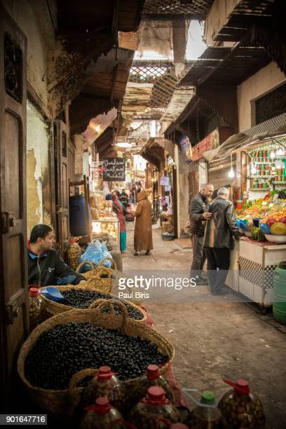 Daily Life in Fes, Vegetable Market, The Medina, Morocco