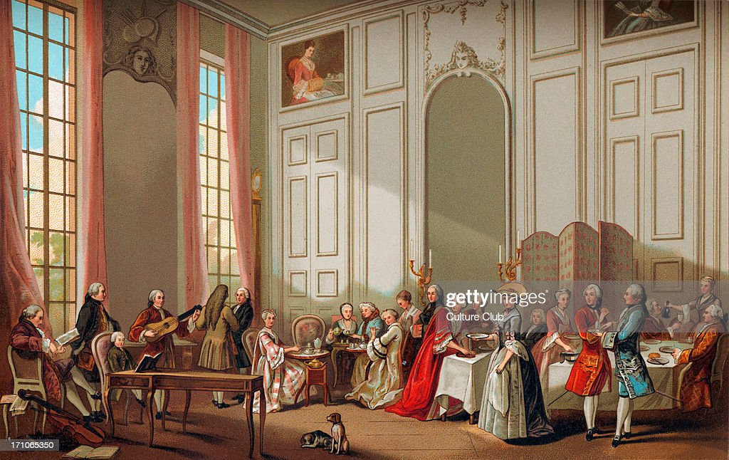 daily life in french history the aristocracy taking tea the a l  the aristocracy taking tea the a l anglaise at the house