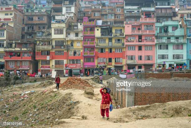 Daily life in Kirtipur Kathmandu Valley Nepal on April 5 2019