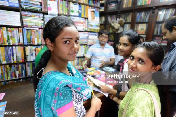 Daily Life in Kolkata Bookseller near Calcutta University on June 20 2016 in Kolkata India