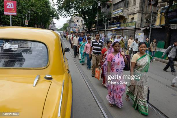 Daily Life in Kolkata on June 20 2016 in Kolkata India