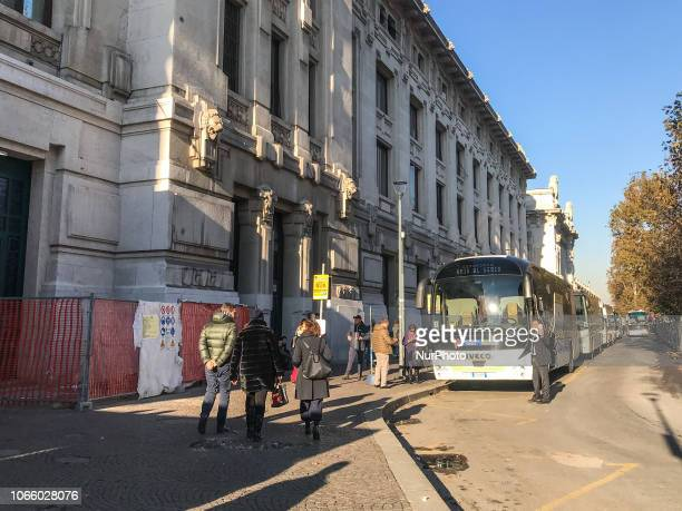 Daily life in Milano Centrale railway station Italy on november 27 2018
