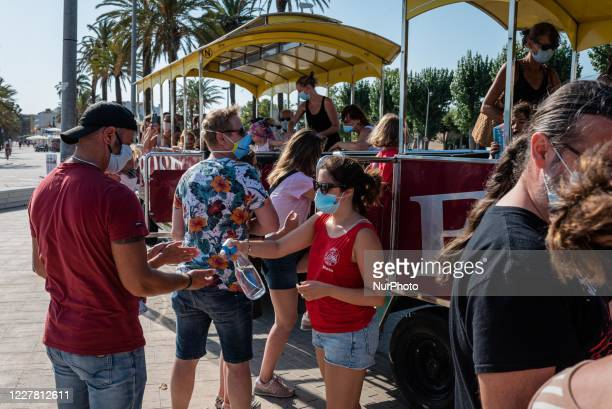 Daily life in Roses, Spain, on July 27, 2020. Since the last fiday when the France prime minister strongly advice about not to travel in Catalonia...