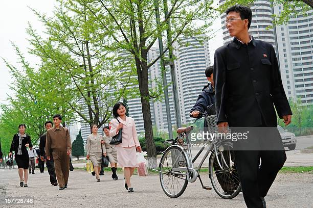 Daily life in the centre of Pyongyang