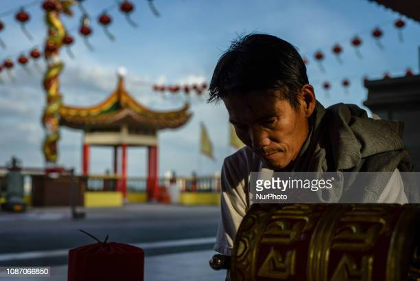 Daily life in the Clan Jetties villages George Town Penang Island Malaysia on January 23 2019 The Clan Jetties of George Town are the traditional...