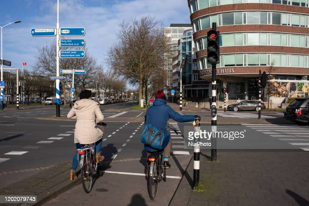 Daily Life In The Hague Netherlands on February 20 2020 The Hague is a city on the North Sea coast of the Netherlands Binnenhof is the home of the...