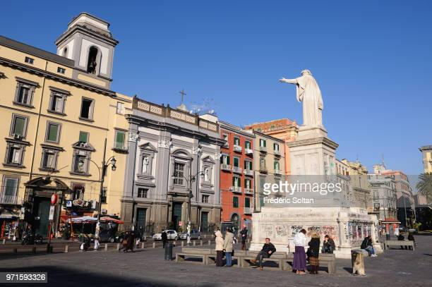 Daily life in the historical streets in Naples on January 08 Italy.