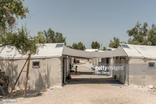 Daily life in the Kara Tepe Open Accommodation Site for refugees where the majority of displaced families and individuals are Afghan or Syrian Kara...
