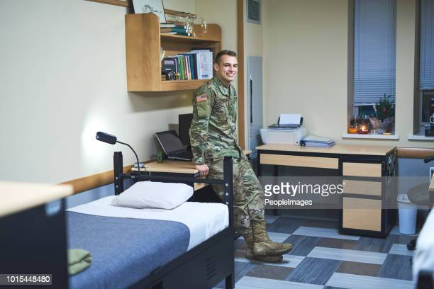 daily life in the military dorms - barracks stock pictures, royalty-free photos & images