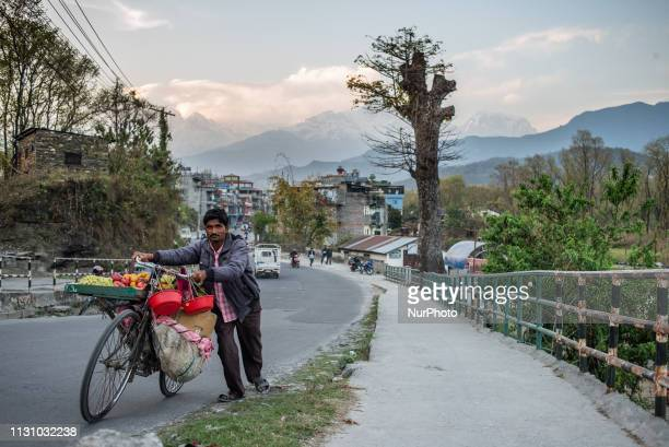 Daily life in the Old Town area of Pokhara Nepal on March 16 2019