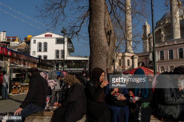 Daily life in the Ortakoy district of Istanbul, Turkey seen on February 26, 2021. As part of the measures against the spreading of COVID-19,...