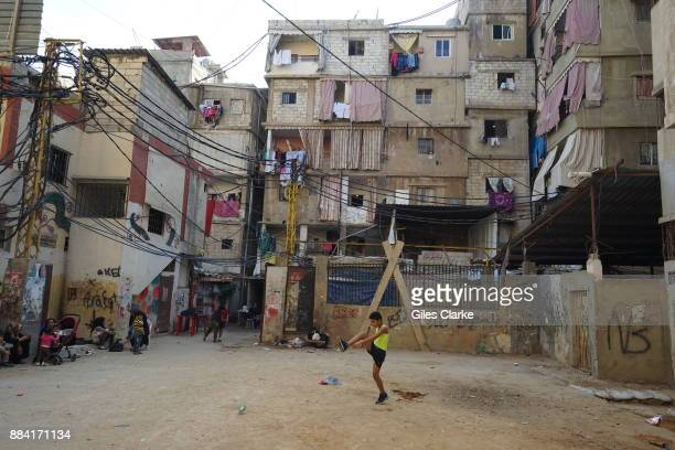 Daily life in the Shatila Refugee Camp on November 2 2015 The camp was originally set up for Palestinian refugees in 1949 It is located in southern...