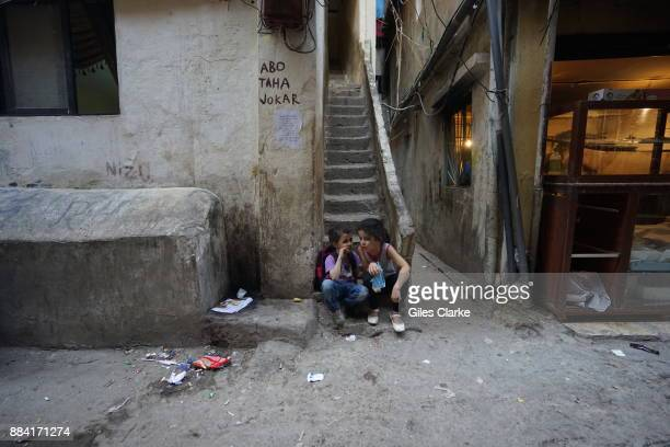 Daily life in the Shatila Refugee Camp on November 2, 2015. The camp was originally set up for Palestinian refugees in 1949. It is located in...