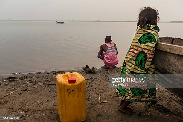 Daily life in Vitshumbi Fishing village on the Southern shores of Lake Edward on July 29 2013 in Vitshumbi DR Congo The villagers depend on the lake...