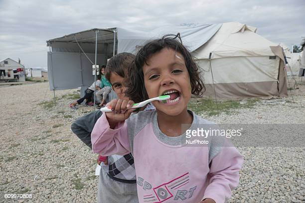 Daily life inside Diavata UNHCR refugee camp in Northern Greece on 22 September 2016 Diavata Refugee camp is a former military camp that was not in...