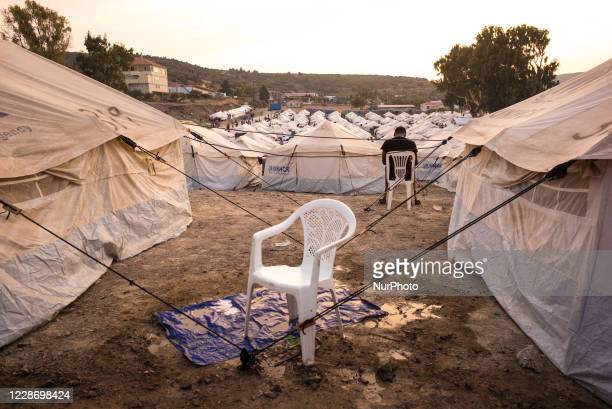Daily life inside the new refugee camp in Kara Tepe, on September 24 Lesvos, Greece.