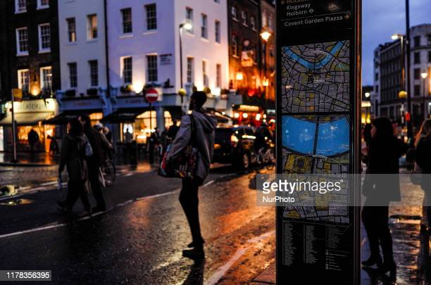 Daily life is seen in Central London on October 24 2019