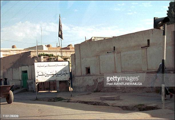Daily life near Kandahar after US bombing in Kandahar Afghanistan on November 02 2001 The office of oneeyed Taliban leader Mullah Mohammed Omar in...