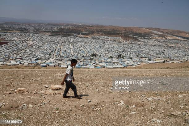Daily life of displaced Syrians in Karama camps in the northern countryside of Idlib governorate on the Syrian-Turkish border on May 30, 2021.