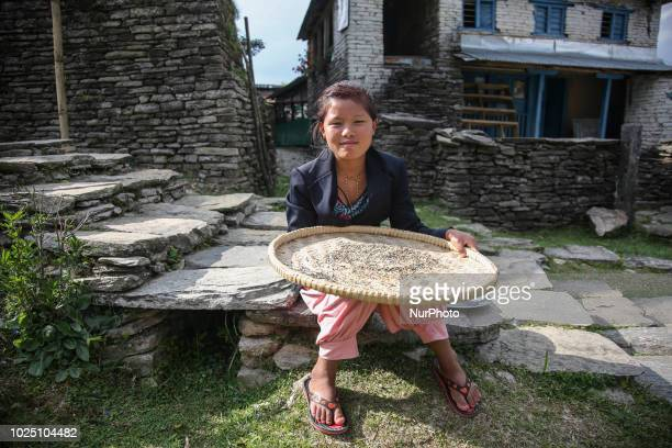 Daily life of people in the mountainous area of the Himalayas in Nepal Still in many villages there aren't roads connecting them with each other and...
