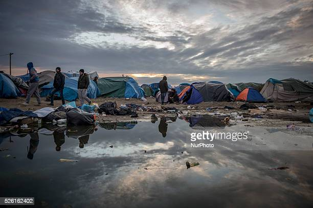 Daily life of refugees in the ampquotJungleampquot migrants camp in the northern French city of Calais on November 3 2015 Winter is coming to Calais...