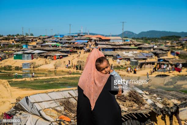 Daily life of Rohingya people at Cox's Bazar camp Bangladesh on December 3 2017 Rohingya are still fleeing into Bangladesh even after an agreement...