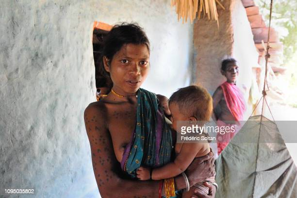Daily life of tribes in small villages and surrounding countryside near Jagdalpur in Chhattisgarh on November 15 2013 in Chhattisgarh India