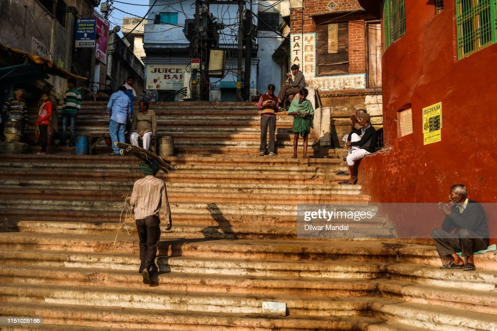 Daily Life Scene At Varanasi : Stock Photo