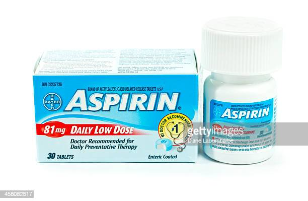 daily low dose bayer aspirin and box - aspirin stock pictures, royalty-free photos & images