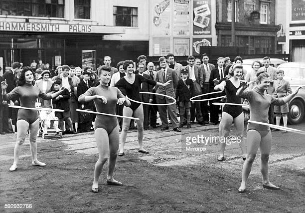 Daily Mirror Hula Hoop Girls performing at Hammersmith Palais 4th October 1958