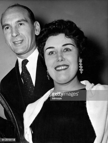 Daily Mirror New Year's Honours Dinner at the Waldorf Hotel Aldwych Mr Henry Hayward SRN of Langho Colony near Blackburn Lancs and his wife Mrs Norma...