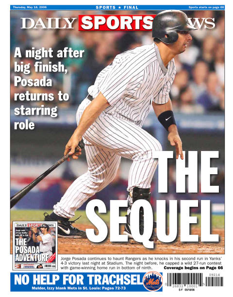 Daily news back page dated May 18, 2006, Headline: THE SEQUE
