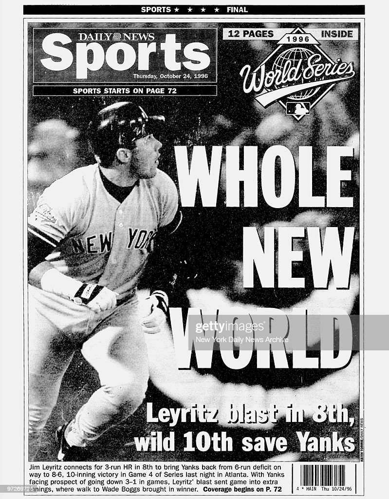 Daily News back page dated Oct  24 Headlines: WHOLE NEW