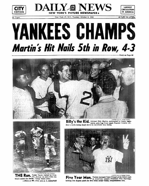Daily News back page dated Oct. 6, 1953 Headline: YANKEES CH